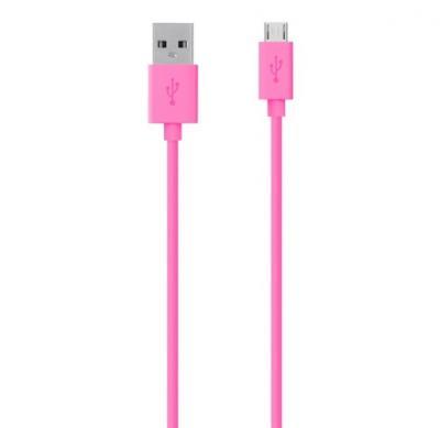 BELKIN USB 2.0 A - MicroUSB 2.0 B prepojovací MixIt kábel M/M 2m ružový