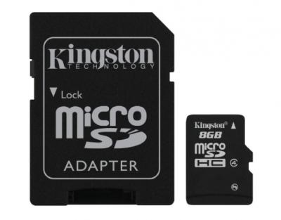 KINGSTON 8GB microSDHC class10 s adaptérom