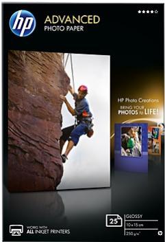 HP Lesklý foto papier 10x15cm 25 listov