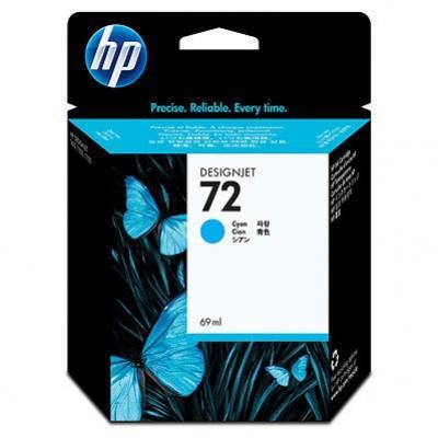 HP 72 azúrová atramentová kazeta maa