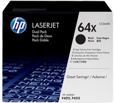 HP 64X čierny laserový toner dvojbalenie