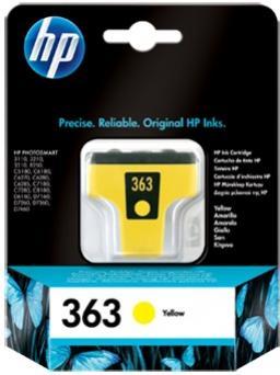 HP 363 žltá atramentová kazeta