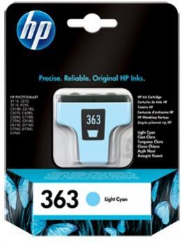 HP 363 svetlá azúrová atramentová kazeta
