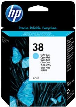 HP 38 azúrová atramentová kazeta