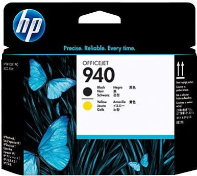 HP 940 čierna a žltá tlačová hlava