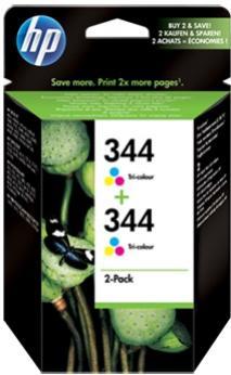 HP 344 farebná atramentová kazeta dvojbalenie