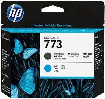 HP 773 matná čierna a azúrová tlačová hlava
