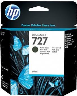 HP 727 matná čierna atramentová kazeta malá