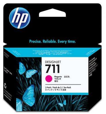 HP 711 purpurová atramentová kazeta trojbalenie
