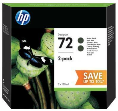 HP 72 matná čierna atramentová kazeta dvojbalenie