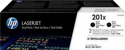 HP 201X čierny laserový toner dvojbalenie