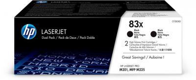 HP 83X čierny laserový toner dvojbalenie