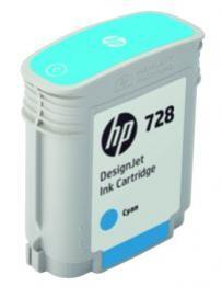 HP 728 azúrová atramentová kazeta malá