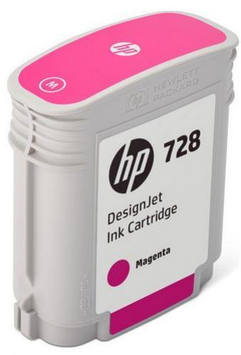 HP 728 purpurová atramentová kazeta malá