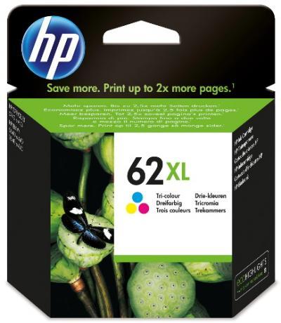 HP 62XL trojfarebná atramentová kazeta