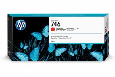 HP 746 chromatický červený atrament