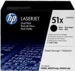 HP 51X čierny laserový toner dvojbalenie