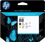 HP 88 čierna a žltá tlačová hlava