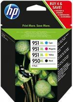 HP 950XL čierna / 951XL azúrová, purpurová, žltá atramentová kazeta štvorbalenie