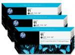 HP 91 matná čierna atramentová kazeta trojbalenie