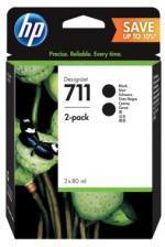 HP 711 čierna atramentová kazeta dvojbalenie