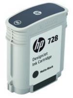 HP 728 matná čierna atramentová kazeta malá