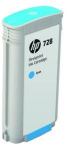 HP 728 azúrová atramentová kazeta